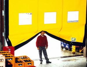 Промышленные рулонные скоростные ворота Dynaco система безопасности