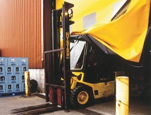 Промышленные рулонные скоростные ворота Dynaco полотно
