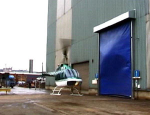 Промышленные рулонные скоростные ворота Dynaco ветровая нагрузка.